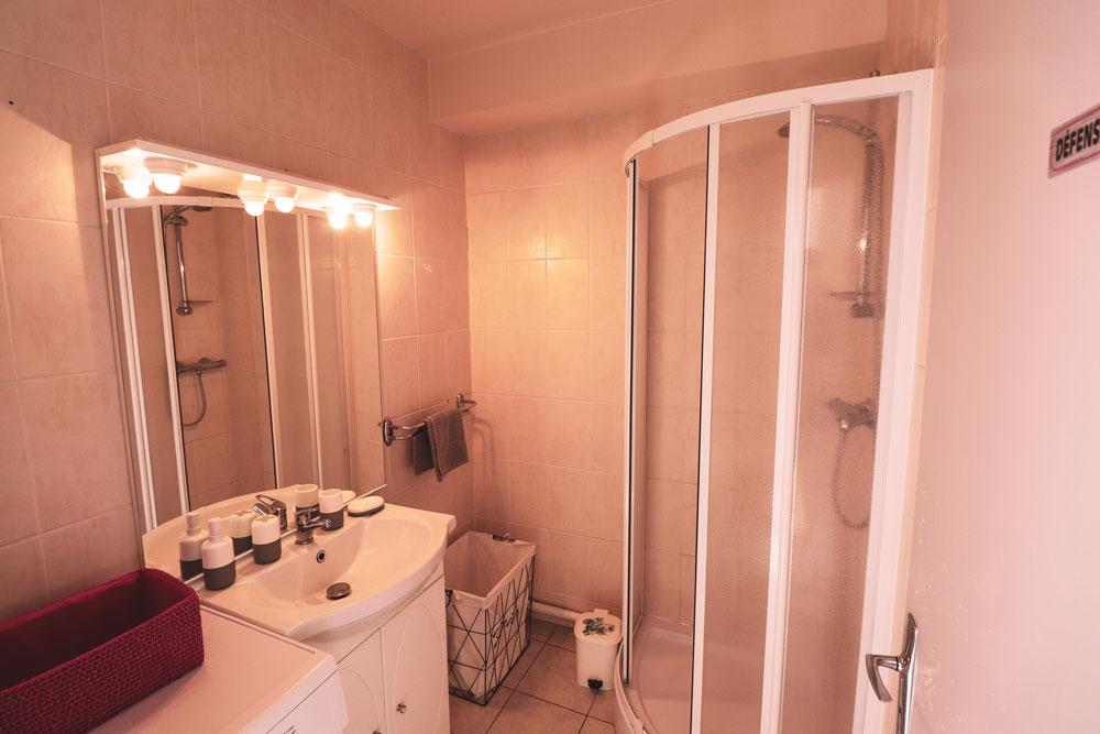 Salle de bain , douche , lavabo