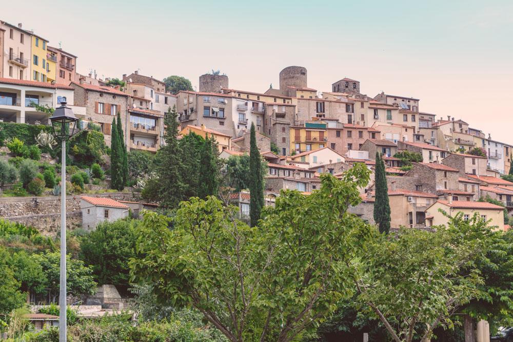 vue de la ville d'Amelie les bains